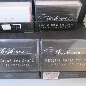 Wedding Thank you Note cards & envelope 96 pieces